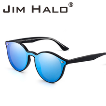 c12cb8fdd6 Jim Halo Premium Fashion Round Horn Rimmed Frame Sunglasses Flat Mirrored  Lens Sun Glasses Shades Men