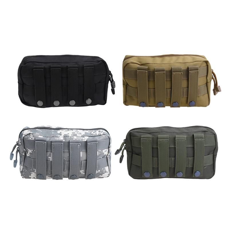 Outdoor MOLLE Bag 1000D Waterproof Tactical Waist Bag Pack Camping Hiking Utility Pouch EDC Keys Phone Holder Backpack Attached tactical molle pouch cell phone case belt clip holster edc utility gadget 1000d nylon men waist bag outdoor gear black