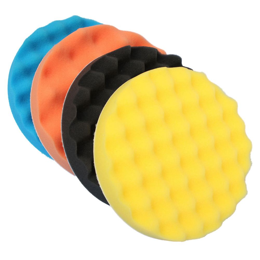 цена на 4Pcs 7inch/180mm Sponge Polishing Buffer Pad Kit Tool For Car Polisher
