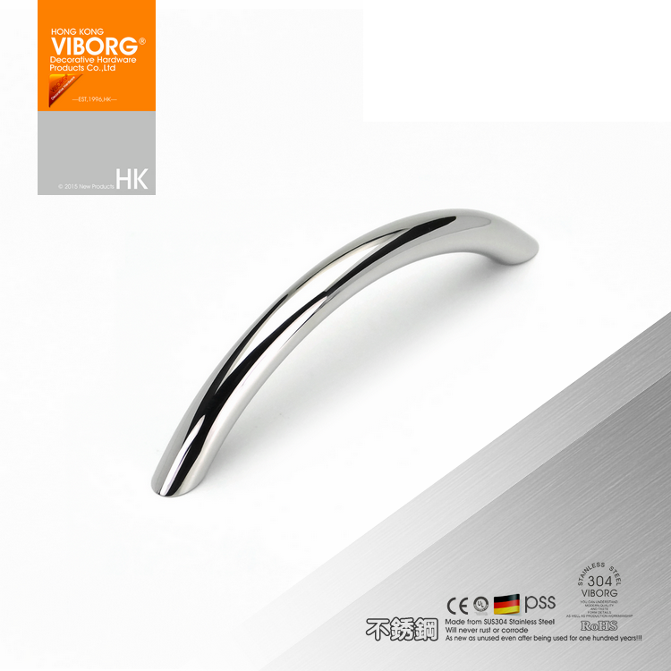 viborg top quality 96mm 304 stainless steel modern kitchen cabinet cupboard door pulls handle drawer pull - Cabinet Door Pulls