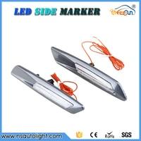 Pure White Led Side Marker For E81 E82 E87 E88 E60 E61 E62 Clear Lens 3D