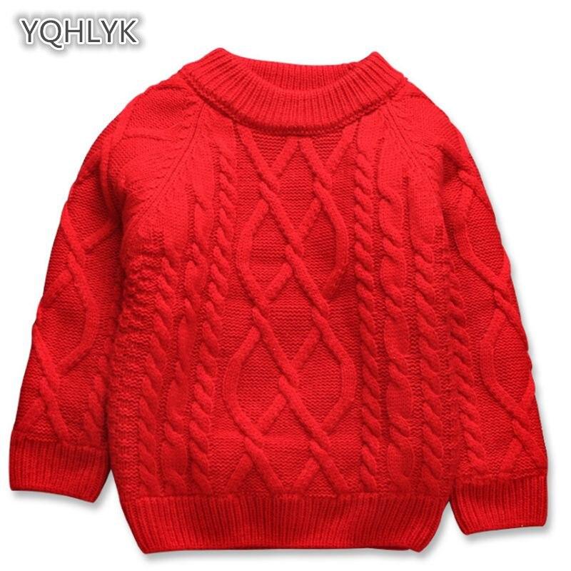 Children Autumn Winter Boy Knit Sweater pullover Long Sleeve Plus Velvet Girl Sweater Short Casual Kids Knit Sweater LK146 цена 2017