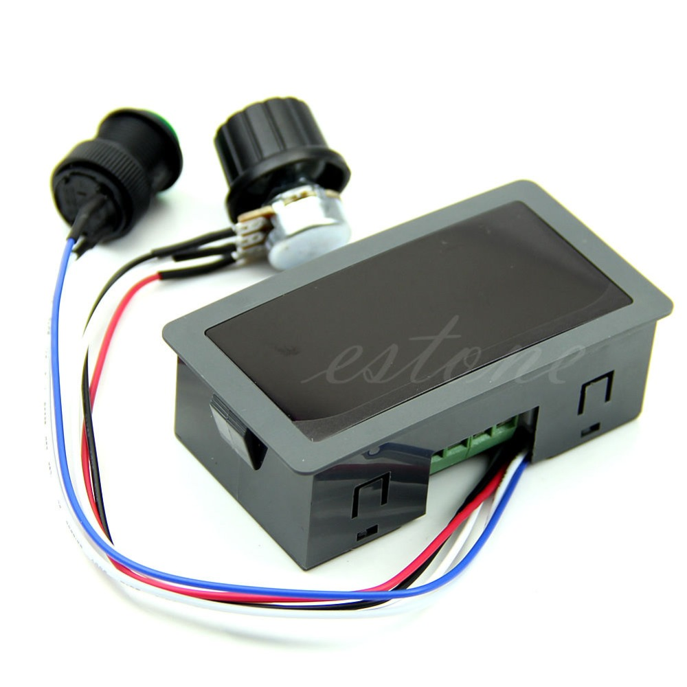 Max 8A DC 6-30V 12V 24V Motor PWM Speed Controller With Digital Display Switch