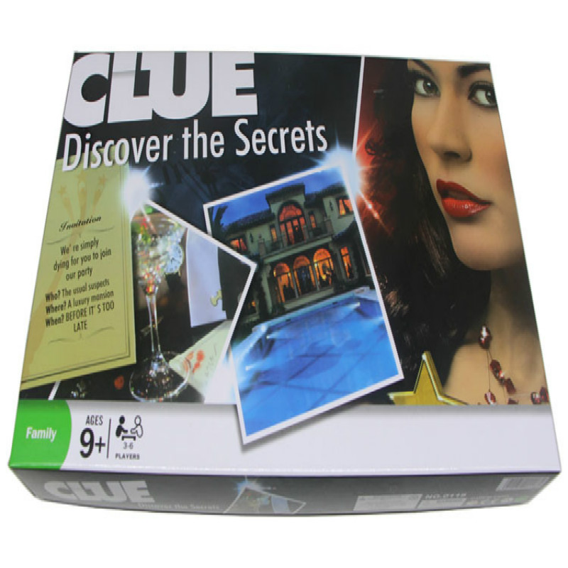 The English Version of Cluedo Game Detective Deluxe Edition CLUE Classic Board Games Chess Board Game Gift Cards каталог интерскол