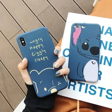 Cute Winnie Poohs Stitch Doraemon Maruko Soft TPU Case For iPhone XS XR MAX Colored Drawing X 6 6S 7 8 Plus
