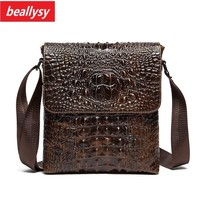 2018 100% guarantee genuine leather Crocodile business men handbags fashion briefcase bags men crossbody messenger shoulder bag