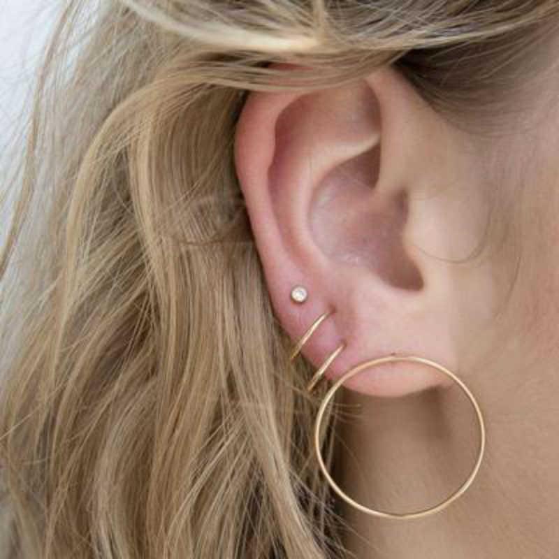 2019 แฟชั่นสไตล์ใหม่สตั๊ดต่างหูผู้หญิงหูชุด 3 คู่/เซ็ตบุคลิกภาพสีเรขาคณิตต่างหูเครื่องประดับขายส่ง