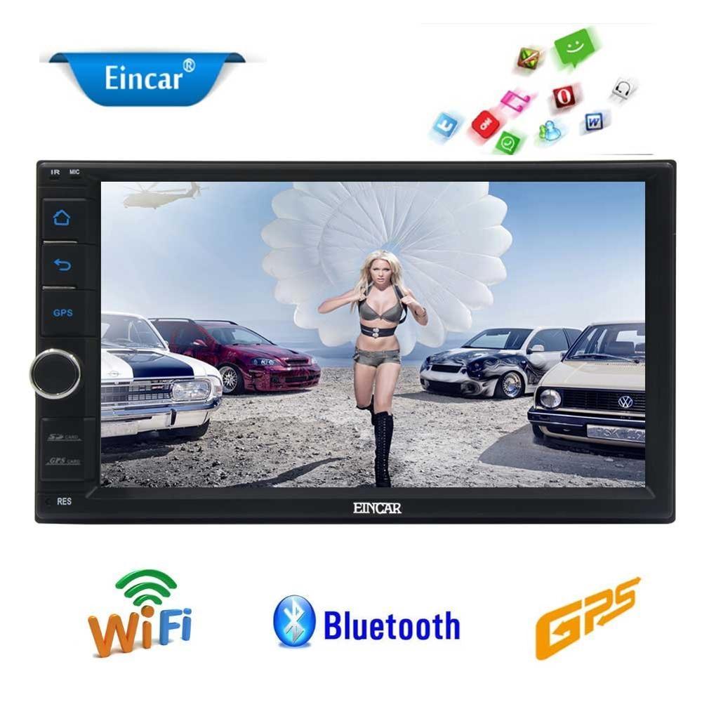 Android6.0 стерео аудио плеер 2 DIN 7 ''Встроенный Bluetooth в тире GPS навигации Поддержка Wi Fi OBD2 MirrorLink SW управление