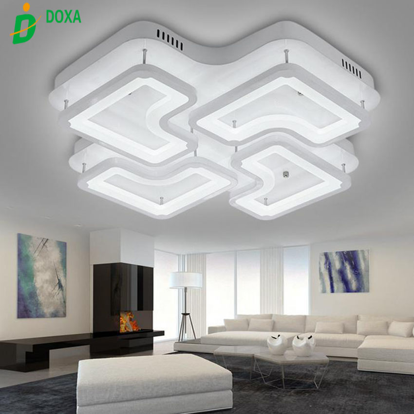 New Square Indoor Lighting Modern Led Ceiling Lights For Living Room Bedroom Lamp Lamparas De Techo Abajur Ceiling Lamp Fixtures Strengthening Waist And Sinews Lights & Lighting