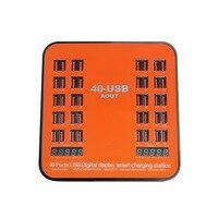 Multi-port 40 Ports USB Ladegerät Station 40A 200 W LED Zeigen 2.4A Für iPhone iPad Samsung Huawei Mi HTC LG DV Power Bank AC Adapter