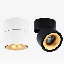 Surface Mounted Mini Embedded Dimmable COB Downlights 5W 7W 360 degree rotation LED Ceiling Lamp Spot Light Downlight AC85-265V newest 7w super bright spot light 180 degree rotation ceiling lamp led spot down light ac85 265v led downlights surface mounted