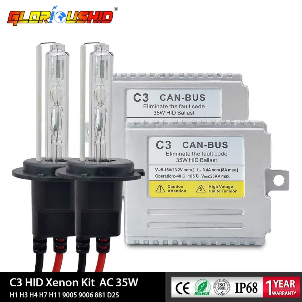 C3 35 W CANBUS xénon H1 H3 H4 H7 H11 9005 9006 881 CACHÉ kit pour voiture Phare H7 xénon