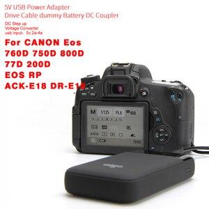Image 3 - ACK E18 DR E18 Power Adapter สายเคเบิล USB LP E17 Dummy สำหรับ Canon EOS 750D 760D 77D 800D 200D Rebel SL2 Kiss x8i T6i T6S