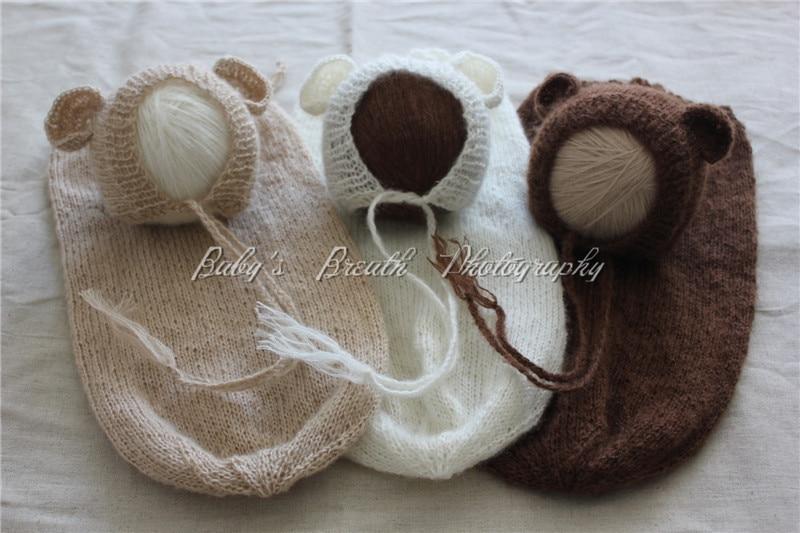 fe2a3519e US $70.0 |Wholesale 3 Sets Newborn Mohair Bear Bonnets And Snuggle Sacks  Newborn Photo Props-in Sleepsacks from Mother & Kids on Aliexpress.com | ...