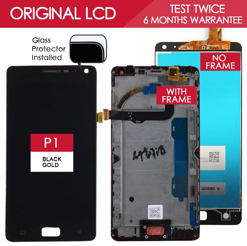 100 Tested Original Brand 1920x1080 Display For Lenovo Vibe P1 LCD P1c72 P1a42 P1c58 Screen Digitizer