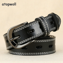 Hot Sale Brand Genuine leather belts for women Pin buckle cowskin Hollow Out Popular Ladies Belt strap Waistband high quality