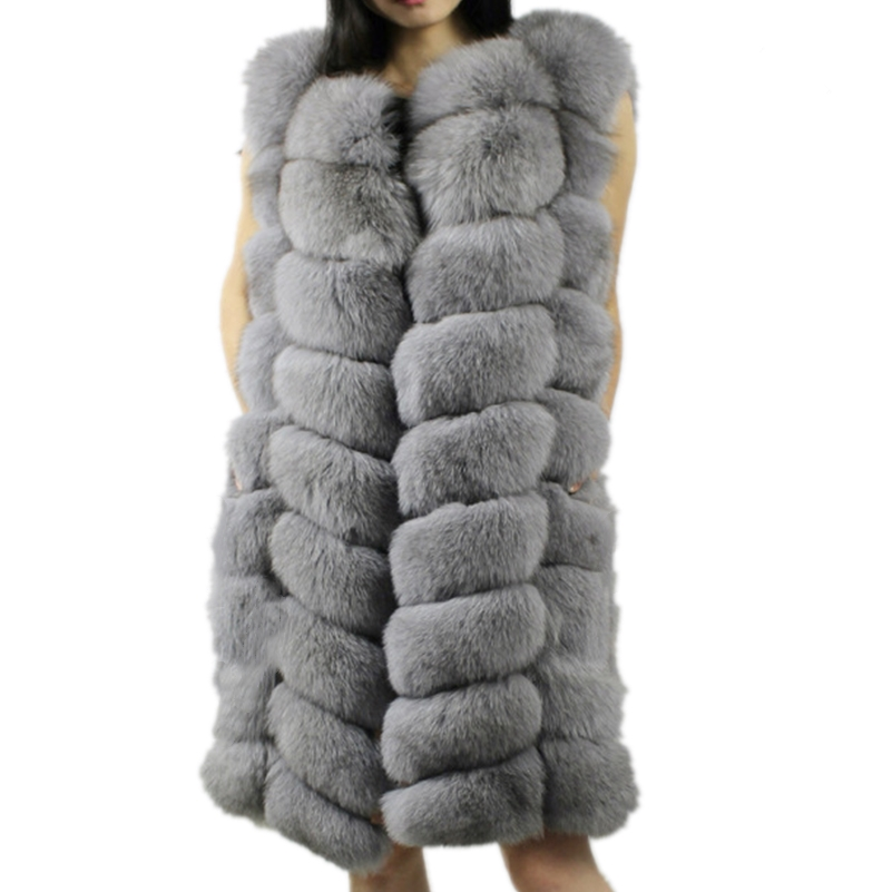 Lisa Colly Winter Womens Fur Vest Coat Warm Long Vests Fur Vests Women Faux Fur Vest Coat Outerwear Jacket