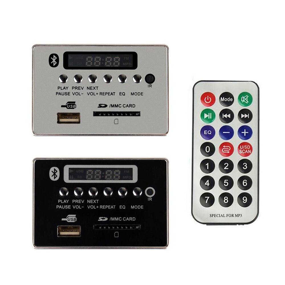 5-12V LED Car Bluetooth Wireless MP3 WMA FM AUX Decoder Board Audio Module USB SD TF Card FM Radio Car MP3 Speaker Accessories