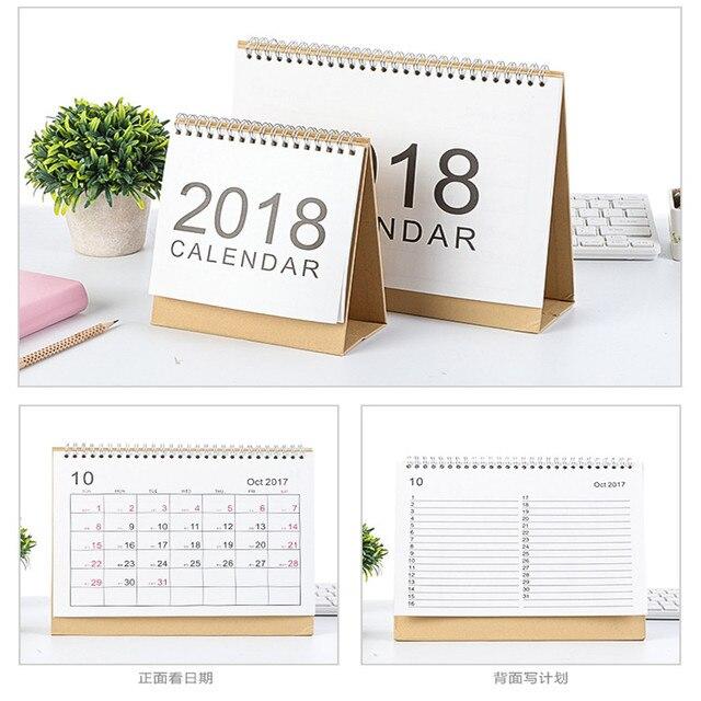 smallmediumlarge seasonal simple calendar organizer 2018 year calendar table standing calendar schedule
