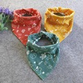 Cotton Baby Bandana Bibs Buttons Double Layers Baberos Bebes Babador Bib 46*26 cm 1 PC