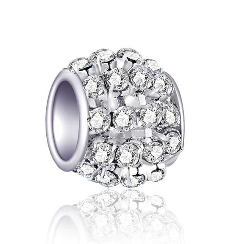 """Высокое качество большой кристалл в форме сердца Bone Star Микки Маус подвески-шармы Pandora Браслеты """"сделай сам"""" для женщин Femme Bijuterias"""