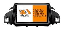 Otojeta gran pantalla hd de coches reproductor de DVD radio headunit tape grabadora para FORD KUGA 2013 Europa Versión android multimedia 7.1.2 estéreo
