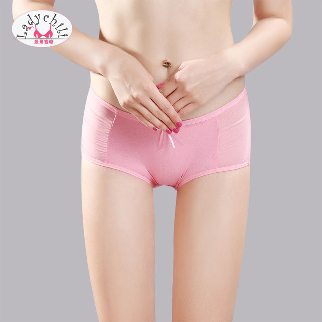 Ladychili Women Intimates 3pcs  Pack Comfort Modal Seamless Invisible Panties  Low Waist Mesh Butterfly Panties Lingerie U17 cc2031a5d