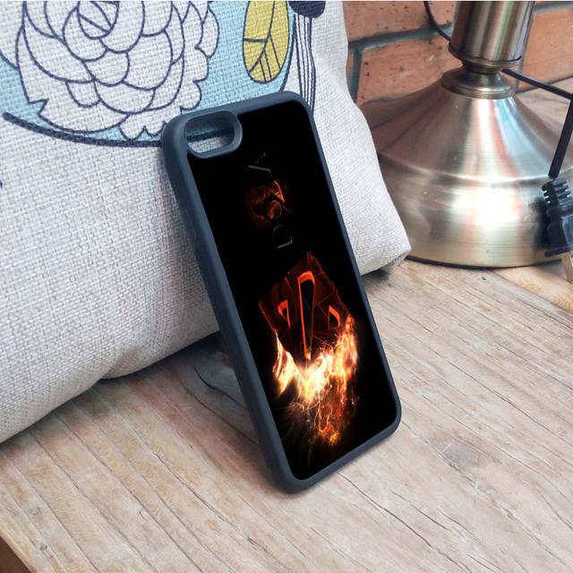dota 2 skull fire logo iphone case