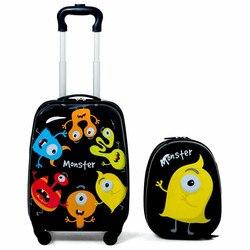 """Cute Cartoon 2 szt. Walizki dziecięce zestaw bagażowy 12 """"plecak i 16"""" walizka lekka konstrukcja bagaż podręczny z kołem Walizki Bagaże i torby -"""