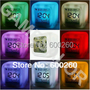 Free shipping Glowing Led Color Change Digital Alarm Clock #8052