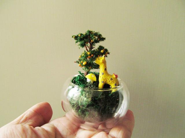 1pcs Artificial Model Tree Miniatures Red Apple Tree Cute Plants