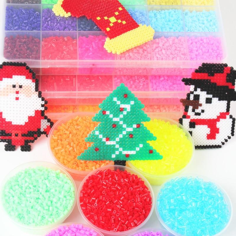 72 Colors Kids Education Diy Perler Beads Toys 1000pcs/bag 2.6mm Hama Beads Puzzle Toys 3D Puzzle Perler Beads Perles De Hama