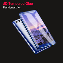 3D 9H Tempered Glass For Huawei Honor V10 Screen Protector Film For Huawei Honor V10 Glass Blue Black (5PCS) все цены