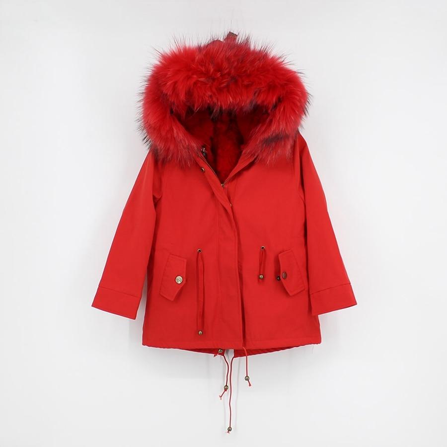 childred winter natural fur parka (1)