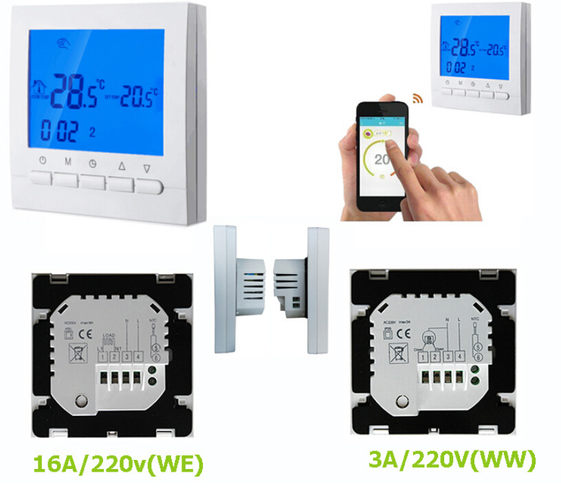 WIFI 16A 3A Heating Thermostat for Warm Floor Electric Heating System WIFI Thermostat + FREE SHIPPING electric floor heating room touch screen thermostat warm floor heating system thermoregulator temperature controller 220v 16a