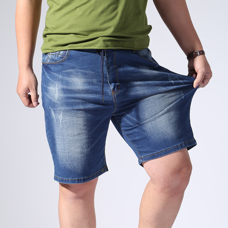 New Men Short Jeans Denim Plus Size 6XL 7XL 8XL 9XL  Men's Casual Denim Shorts Elastic Big Size 42 44 46 48 50 52