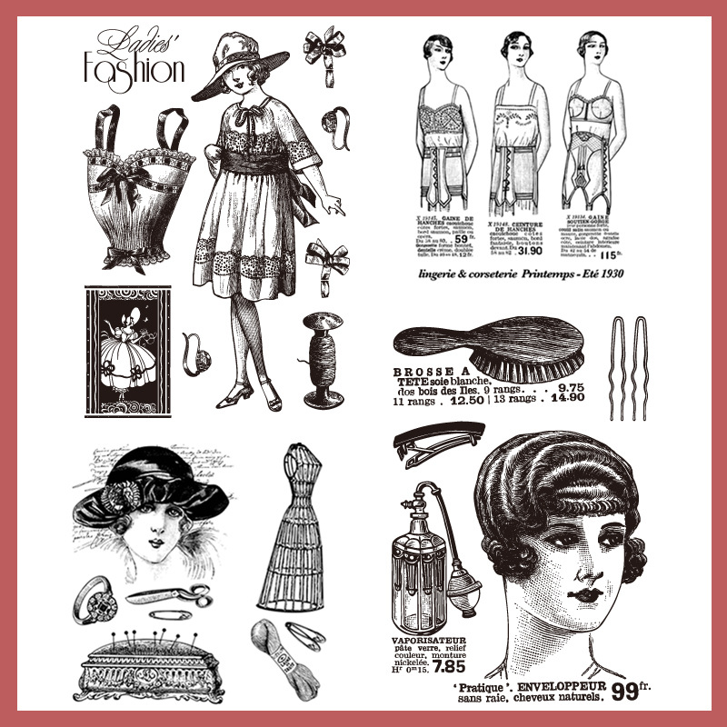 Fashion Lady Rubber Clear Stamp Seal Silicone Cards Scrapbooking DIY Diary Book Making Paper Album Craft Decor Paper Acrylic P lovely bear and star design clear transparent stamp rubber stamp for diy scrapbooking paper card photo album decor rm 037