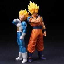 22cm Dragon Ball Z Goku Super Saiyan Awakening Gohan Father Trunks Vegeta PVC Anime Figure DBZ Collection Model Toys Gift