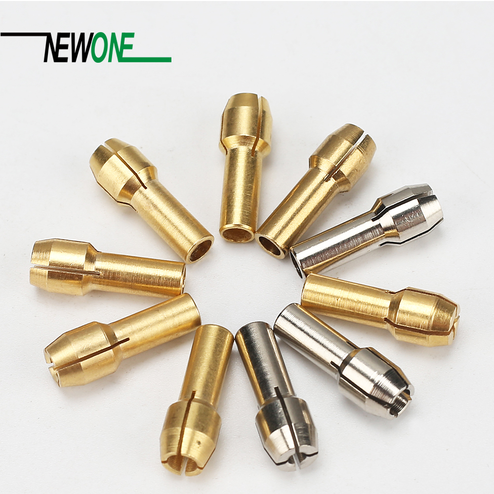 Brass Collet Chuck 10PCS 0.5/0.8/1.0/1.2/1.5/1.8/2.0/2.4/3.0/3.2 mm Mini Drill Rotary Tool Accessories 1003921002