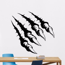 New Monster Claws Wall Decal Wild Animal Vinyl Sticker Home Decoration Horror Art Mural Stickers AY312
