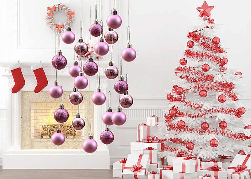 24pcs Christmas Ball Ornaments Shatterproof Christmas Decorations Tree Balls