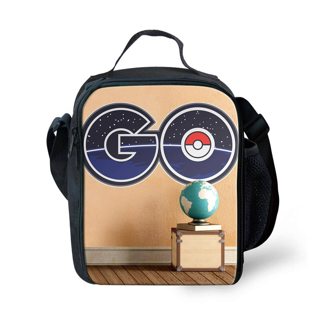 80ca686a5232 Anime Pokemon Go Cartoon Printed Cute Package Food Meal Lunch Box Insulated Lunch  Bag Multifunction Lunch Bag for Children Kids-in Lunch Bags from Luggage ...