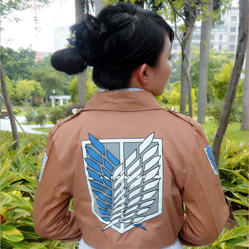 Coshome Attack on Titan Cosplay Shingeki no Kyojin Mikasa Ackerman Cosplay Costume Shawl Belt Suit Leather Shorts Full Set (9)
