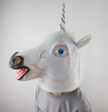 Rubber Latex Unicorn Horse Head Mask Halloween Costume Party Prop Novelty Creepy Cosplay Mask