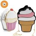 BONAMIE мультфильм для женщин мороженое кекс мини сумки женские из искусственной кожи Маленькая цепь муфта сцепления девушка плеча Сумка - фото