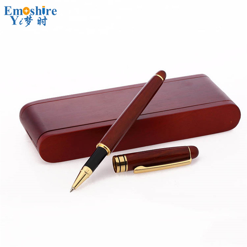 New Creative Signature Pen Gift Set for Stationery Students Graduation Birthday Gift Customization Wood Ballpoint Pen P053 putting all students on the graduation path