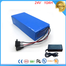 DIY lithium battery super power 24v 10ah lithium ion battery 24v 10ah li-ion battery pack +charger+BMS