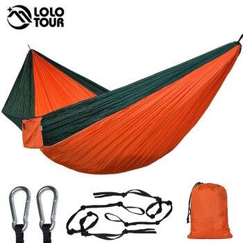 Hamaca de paracaídas doble Ultra grande 2 Camping Patio de descanso terraza...
