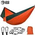 Ultra-duży podwójny hamak spadochronowy 2 Camping wypoczynek Patio ogród taras spanie Hamaca Hamac 300*200cm 118*78 Cal