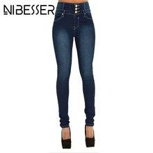 NIBESSER New Woman Denim Pencil Pants Brand Stretch High Waist Black Jeans Pants Elastic Skinny Denim Long Pencil Pant Plus size